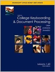 College Keyboarding & Document Processing Textbook
