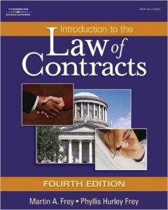 Introduction to the Law of Contracts textbook