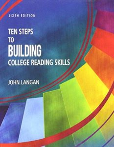 TEN STEPS to building college reading skill cover page picture