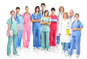 Group of Nurses and Doctors Posing