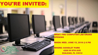 FNU COMPUTER LAB GRAND OPENING FLYER