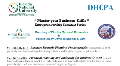 """Master Your Business Skills"" Entrepreneurship Seminar Series"