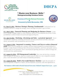 Master your Business Skills Series Flyer