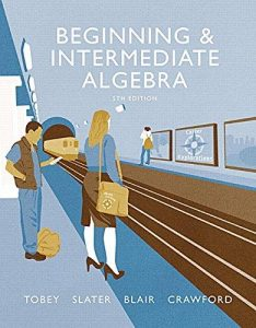 BIginning & intermediate algebra cover page picture
