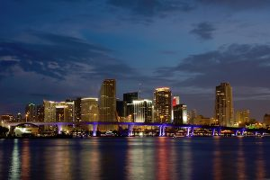 Panorama of Downtown Miami at Night