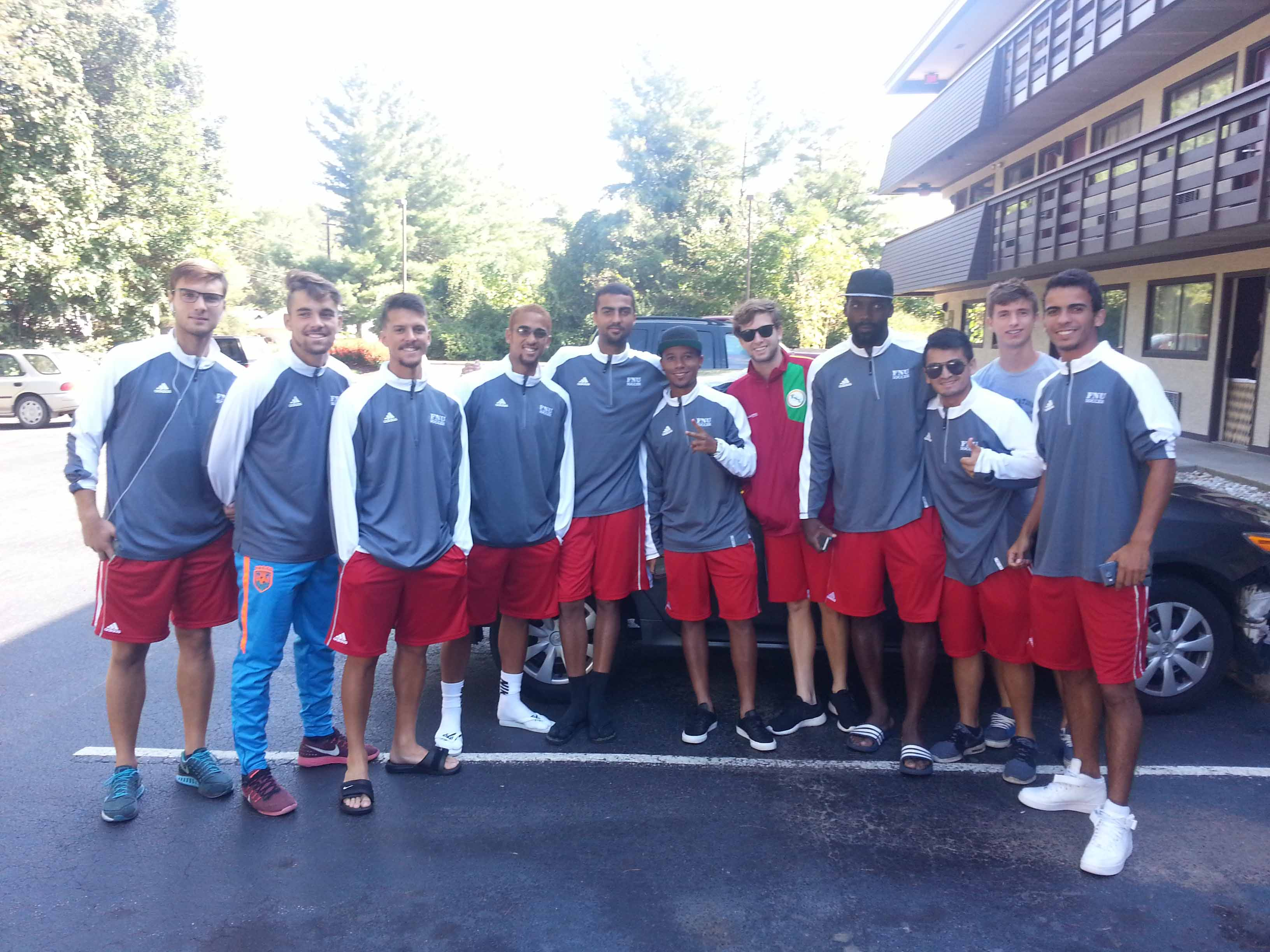 Men's Soccer at Red Roof Inn before Warren Wilson College game in Ashville NC