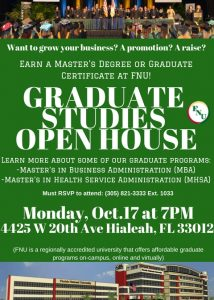 Graduate Studies Open House Flyer