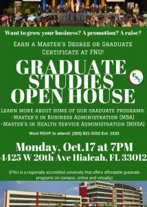 Graduate Studies Open House Flyer