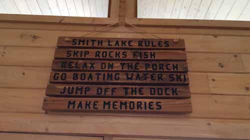 House rules at Smith Lake