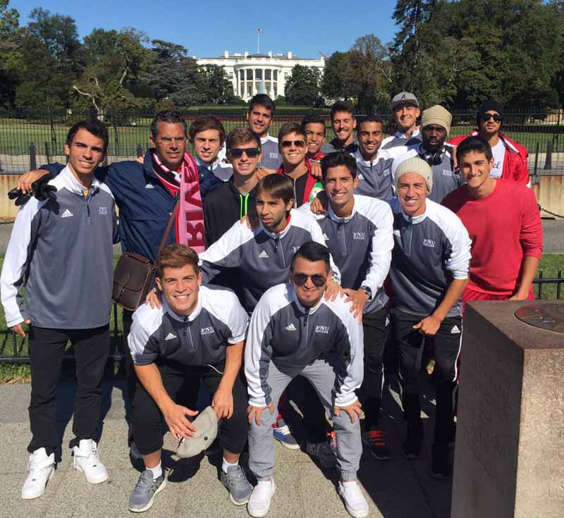 Men's Soccer players at White House
