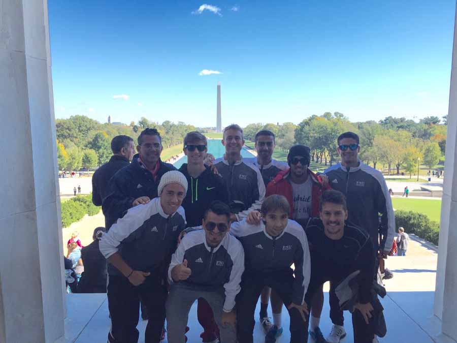 Men's Soccer players at Lincoln Memorial