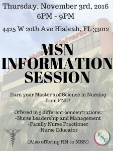 MSN Information Session Flyer