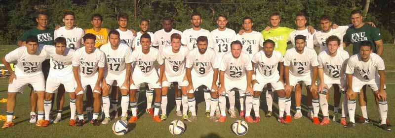 Men's Soccer team picture at Oklahoma
