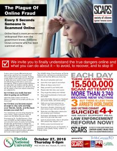 Plague of Online Fraud Seminar Flyer