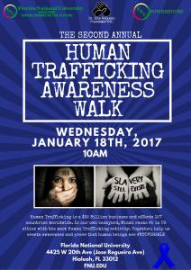 Human Trafficking Awareness Walk flyer
