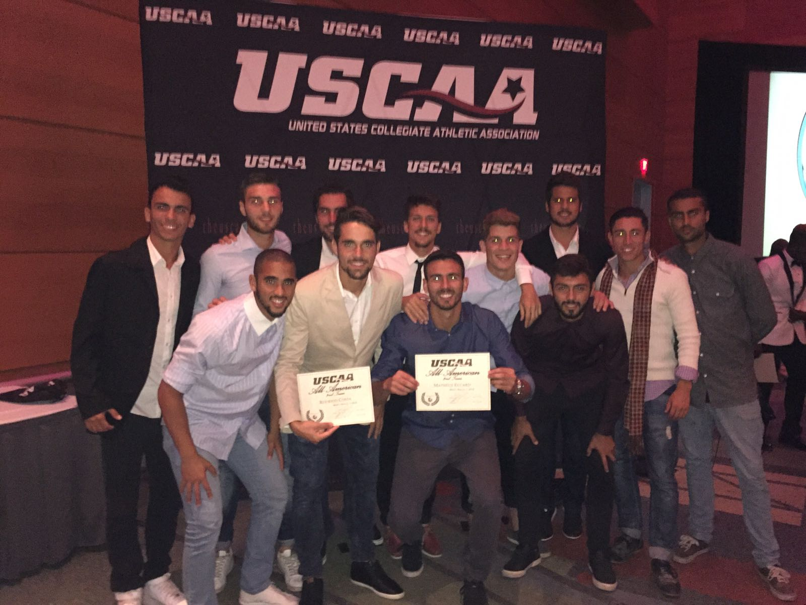 Mens soccer All American Award Ceremony picture