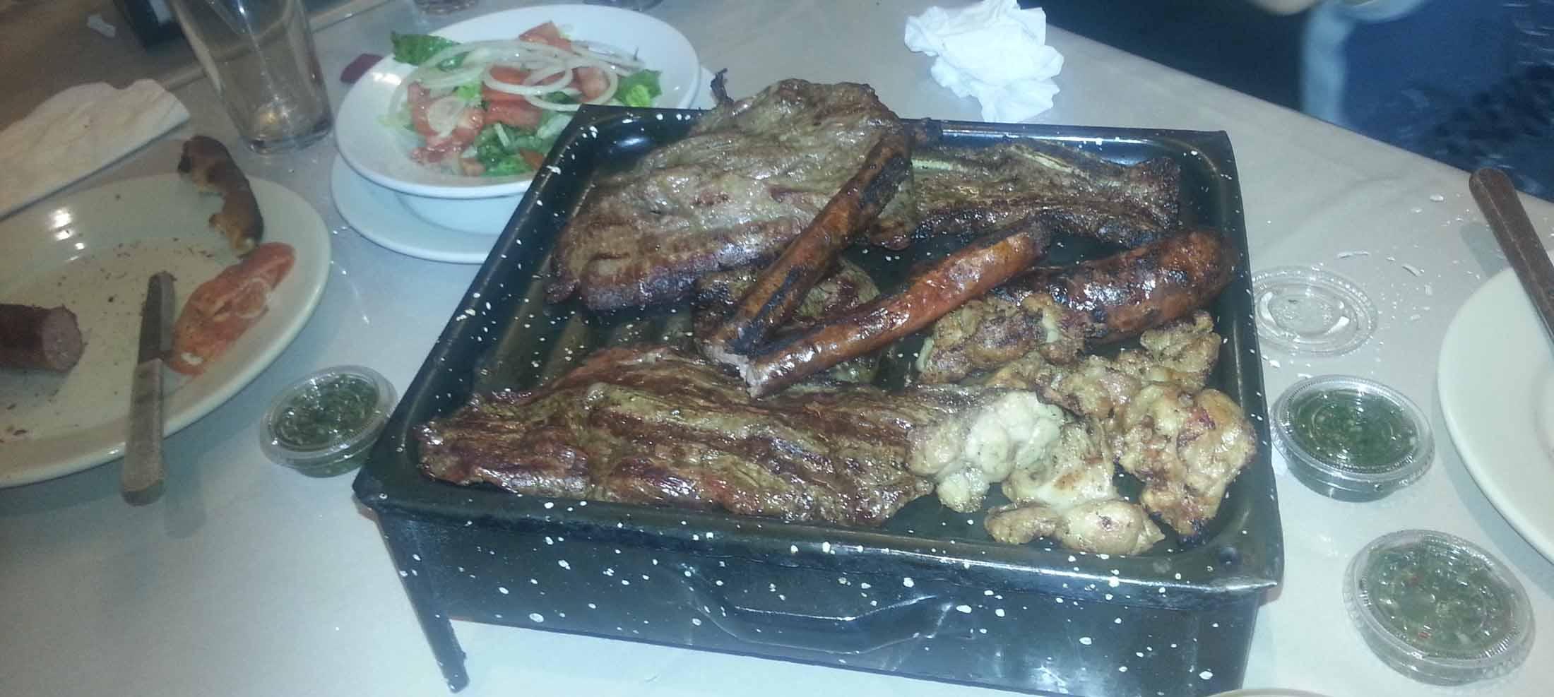 Good BBQ at Men's Soccer Christmas dinner