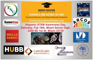 Flyer depicting Hispanic STEM Awareness Day sponsors