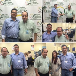 Collage of Dental Director Dr. Restrepo with student at FNU