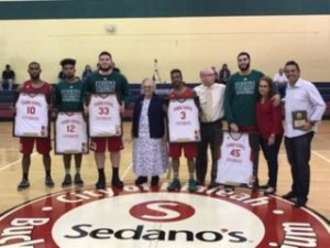 Men's Basketball Team Celebrates Senior Night