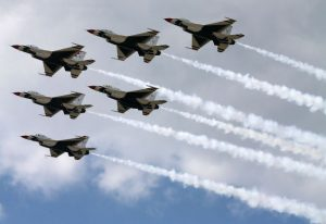 Air Force jet flyover