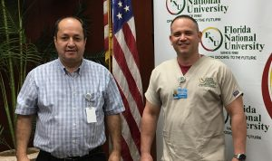 FNU Dental Student Efren Martinez and Dental Director Mauricio Restrepo
