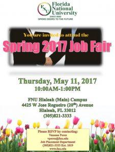 Spring 2017 Job Fair