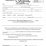 Cap and Gown Form for Graduation - Career