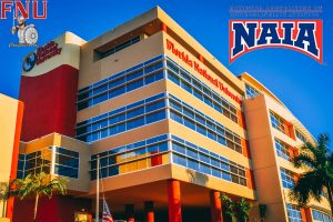 FNU building with NAIA logo