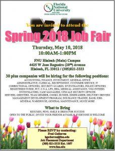 spring 2018 job fair flyer
