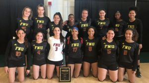 FNU Women's Volleyball team