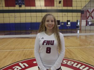 Annette Dominguez - FNU Volleyball Player