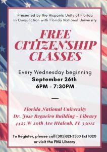 Citizenship classes flyer