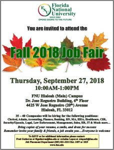 fall 2018 job fair