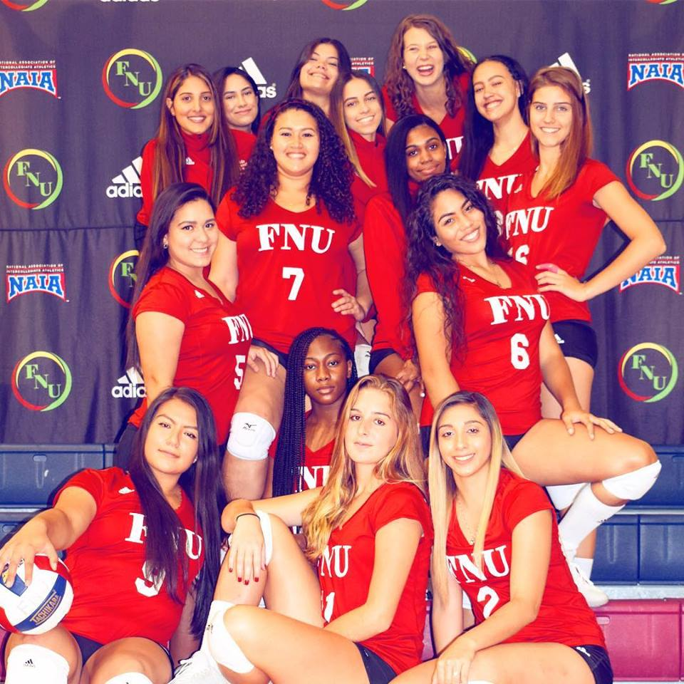 fnu women's volleyball team PIC
