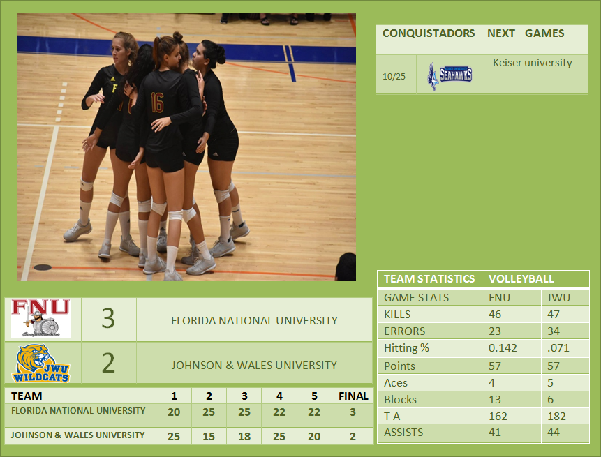 Stats volleyball game