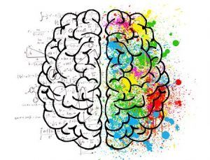 Artistic Painting of the human brain