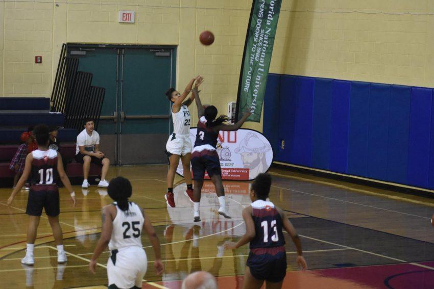 FNU Women's Basketball player shooting
