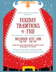 Holiday Traditions @ FNU Flyer