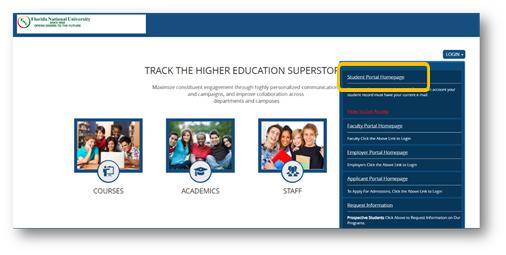FNU Student Portal Homepage