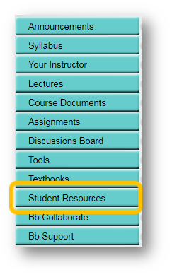 Student Resources section