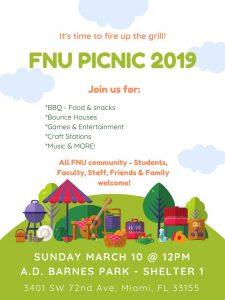 Florida National University Picnic Flyer