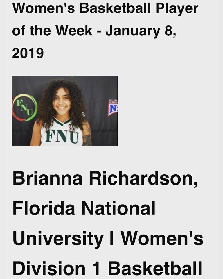 Brianna Richardson player of the week