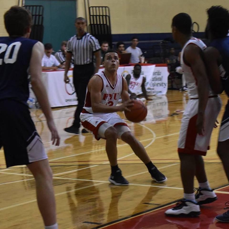 FNU Basketball player shooting the ball