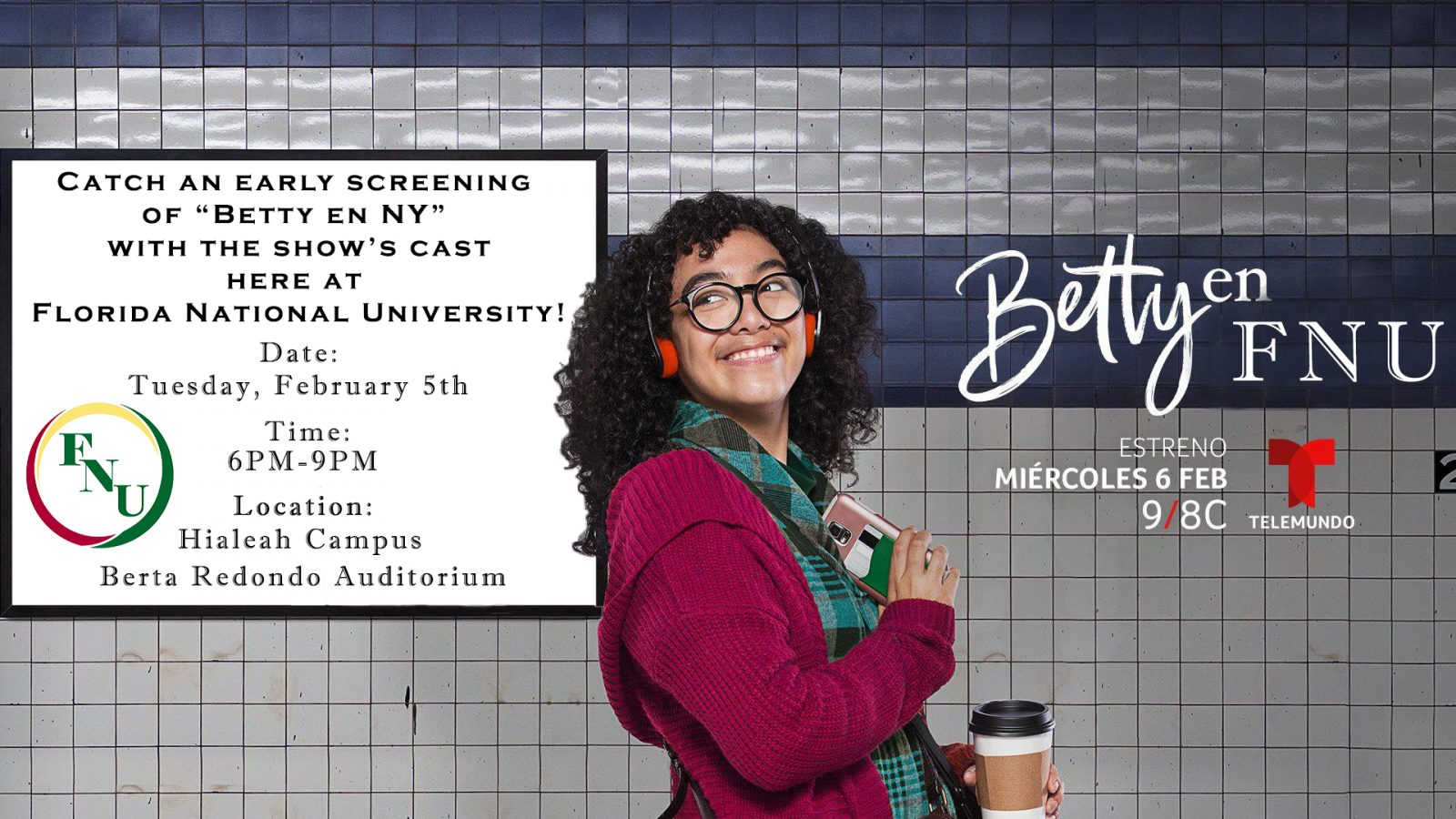 Betty en NY FNU Screening Promo Flyer