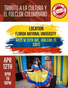 FNU Colombia event flyer