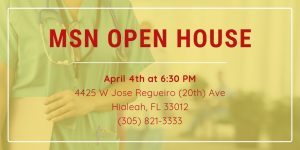 FNU MSN OPEN HOUSE FLYER