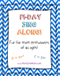 PI Day Sing Along Flyer