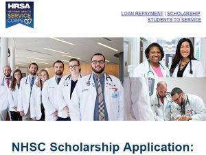 NHSC Scholarship Banner Image