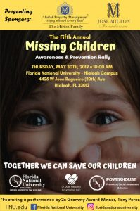 Florida National University Missing Children Flyer